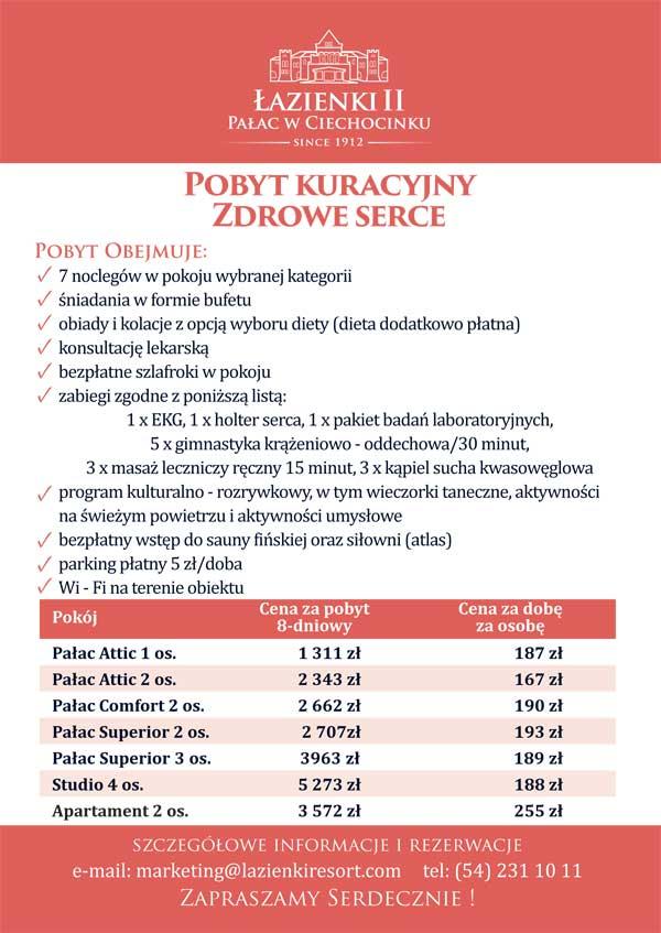 Sanatorium Pałac Łazienki II - Pakiet Zdrowe Serce