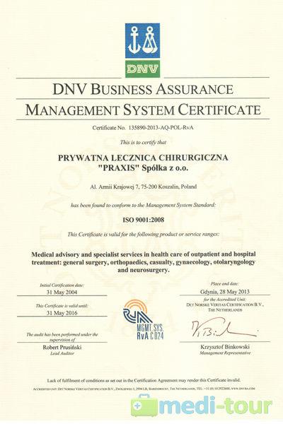 PRAXIS - system zarządzania jakością ISO 9001:2008